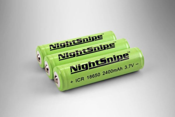 (3) Rechargeable, 10-year rated Lithium Ion batteries