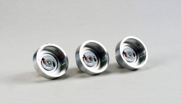 3 CREE LEDs