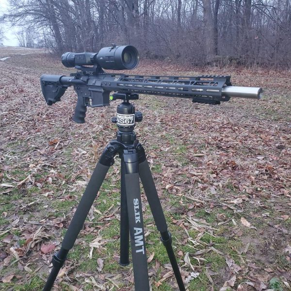 SLIK 700, coyote hunting, Hunting Tripod, Shooting Tripod, Hunting Ball head, Thermal, Night vision, hog hunting. Predator hunting, NightSnipe HUnting Lights, IR Illuminators, NIghtSnipe NS67 Ball Head