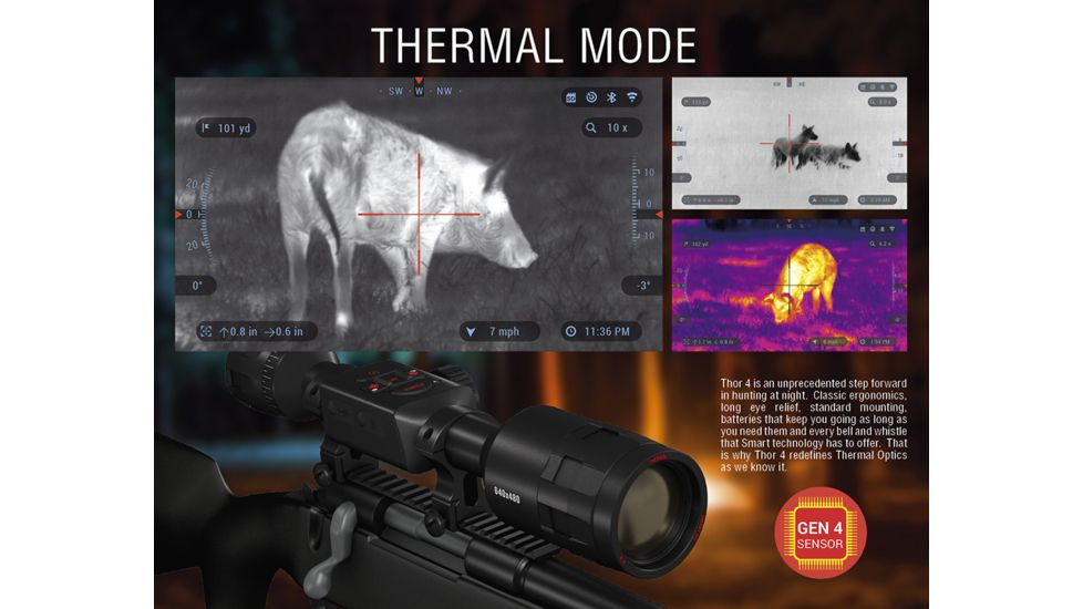 ATN ThOR 4, 384x288 Sensor, 2-8x Thermal Smart HD Rifle Scope