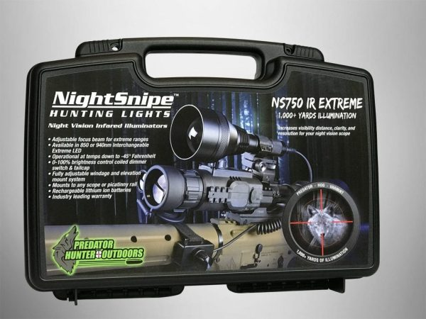 IR (Infrared) Illuminator Hunting Light Kit
