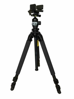 SLIK PRO 700 DX Heavy-Duty Tripod / NS67 Ball Head / Pig Saddle / Marc QD Plate