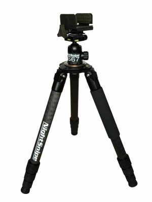 Carbon Fiber Hunting Tripod and Pig Saddle Combo